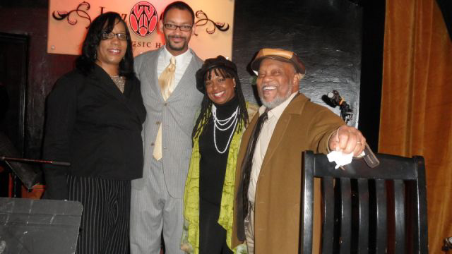 Joan and Marcus Belgrave with Jason Marsalis