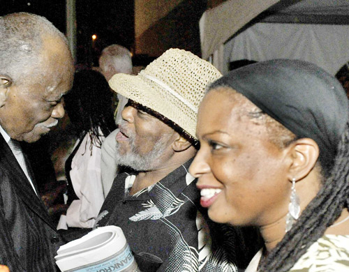 Hank Jones with Marcus and Joan at the 2009 Detroit Jazz Festival